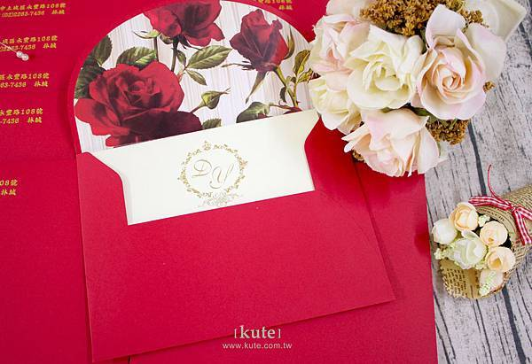 客製化喜帖信封,喜帖信封,玫瑰信封,可艾婚禮,可艾婚禮小物