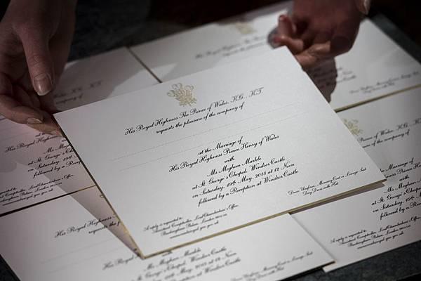 梅根喜帖,皇室喜帖,喜帖,喜帖設計,設計喜帖,熱門喜帖,名人婚禮,名人喜帖,皇室婚禮