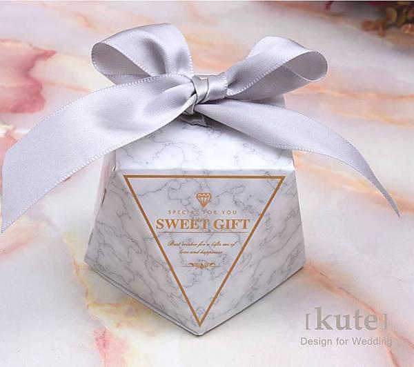 大理石 喜糖盒 禮物盒 包裝盒 可艾婚禮