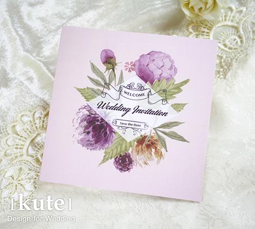 花卉喜帖 插畫喜帖 喜帖 喜帖設計 可艾婚禮