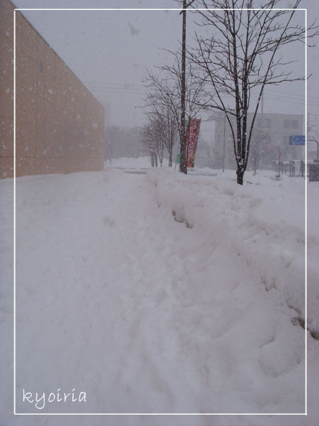宮之澤地鐵站外積雪...路在哪呀!?