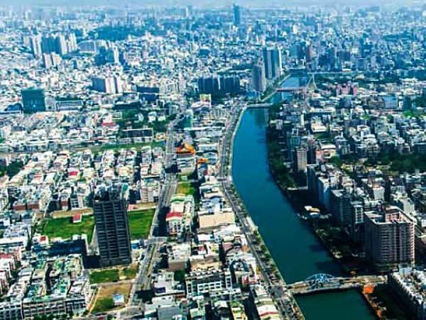 運河鳥瞰圖(台南市政府都市發展局提供)