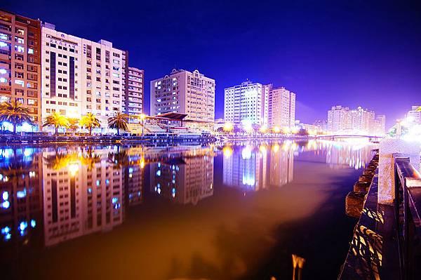 運河夜景(蔡尚賢-蔡宜瑾攝)