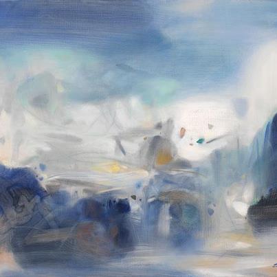霧裡雪霽~朱德群作品