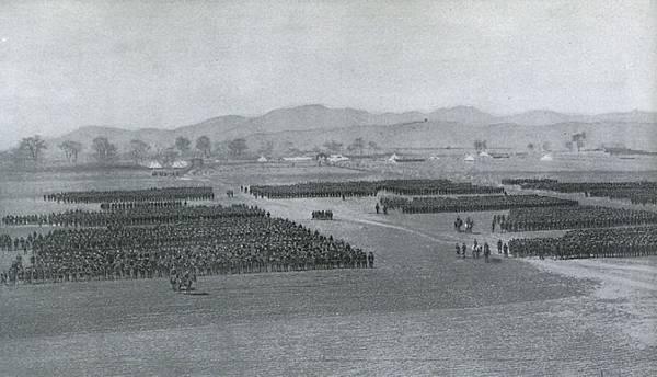 1904奉天會戰後點閱日本第一軍的一個師團