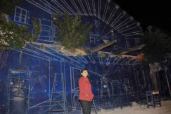 已經失去原貌的藍晒圖依然是許多人到台南必定拜訪的景點