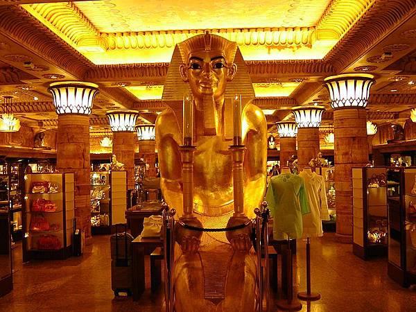 06英國倫敦Harrods百貨埃及風格裝潢的售場