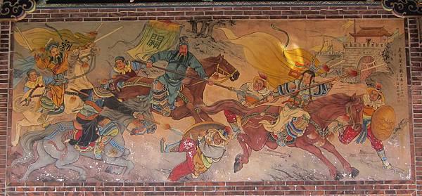 保安宮潘麗水壁畫~三英戰呂布