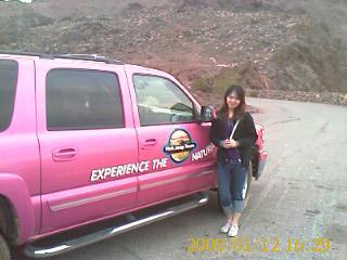 要去 Grand Canyon 所乘坐的 pink jeep~