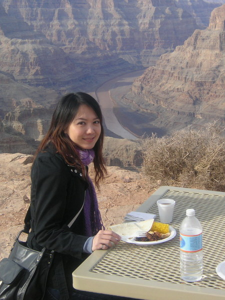 Lunch by Grand Canyon