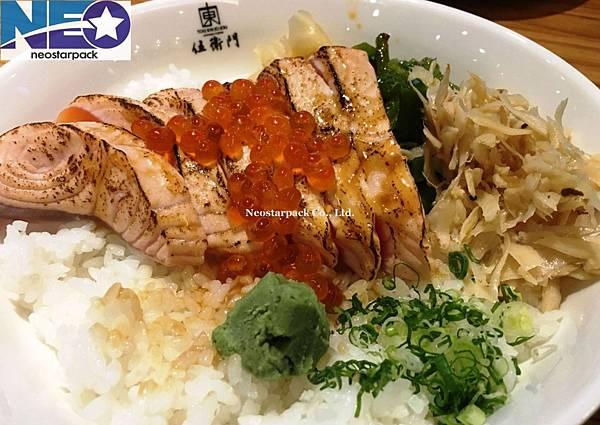 炙鮭魚親子蓋飯份量超大.JPG