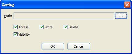 Easy File Locker 1.0 --setting