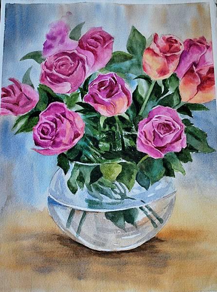 玫瑰及畫畫作品1031210 018