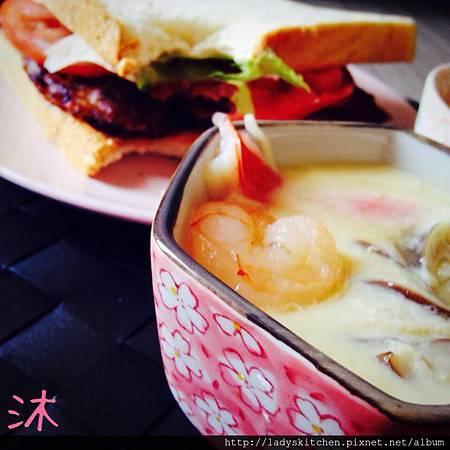特製豬排三明治+茶碗蒸