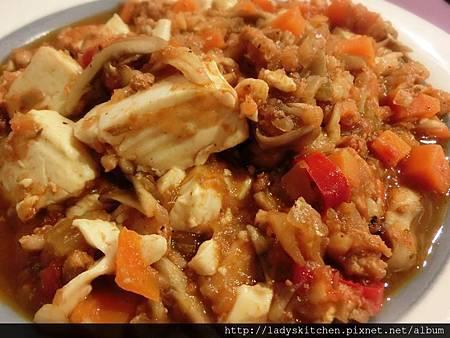 西班牙辣肉醬燉豆腐
