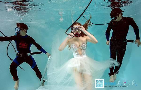 水中婚紗照
