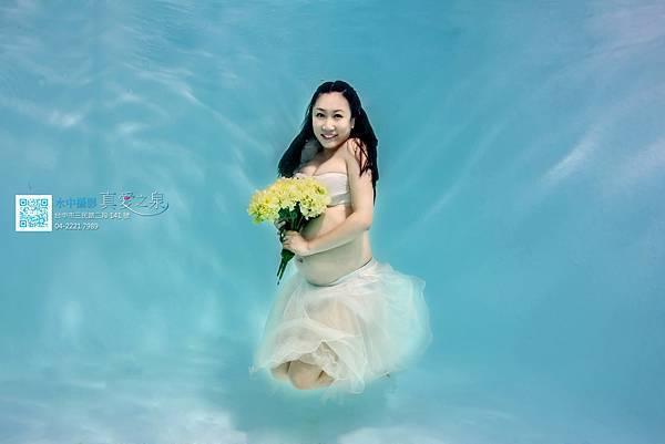 水中孕婦寫真