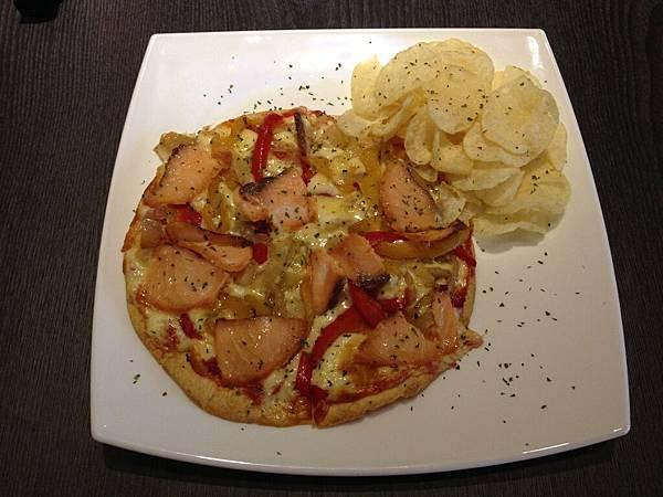 煙燻鮭魚披薩