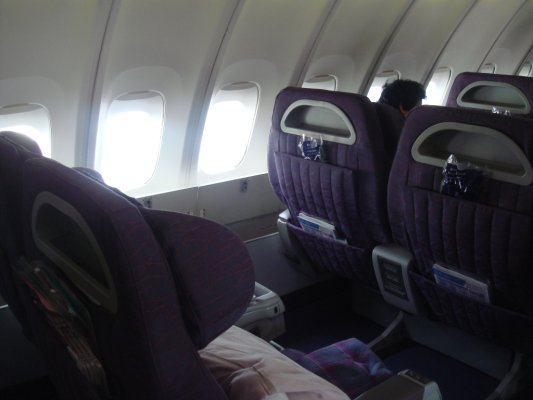我們的飛機座位是在二樓的M class
