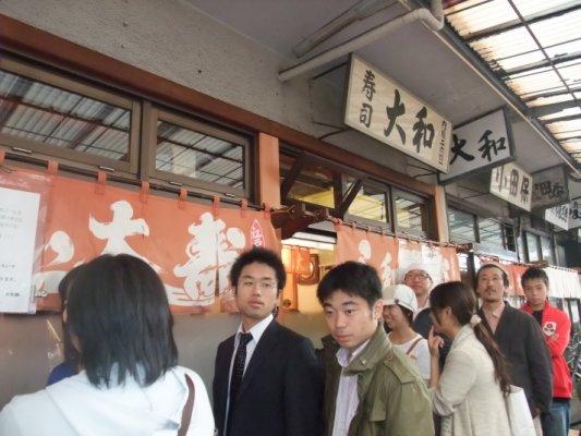 築地市場裏大和壽司是最有名的