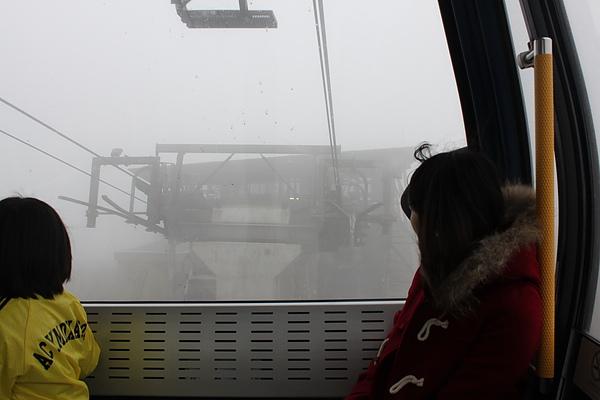 然後越到後面就越冷,一直起霧