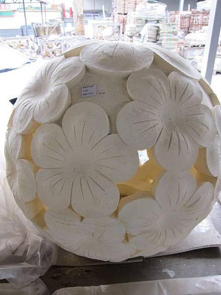 """雞蛋花石球燈30cm""""5890"""""""