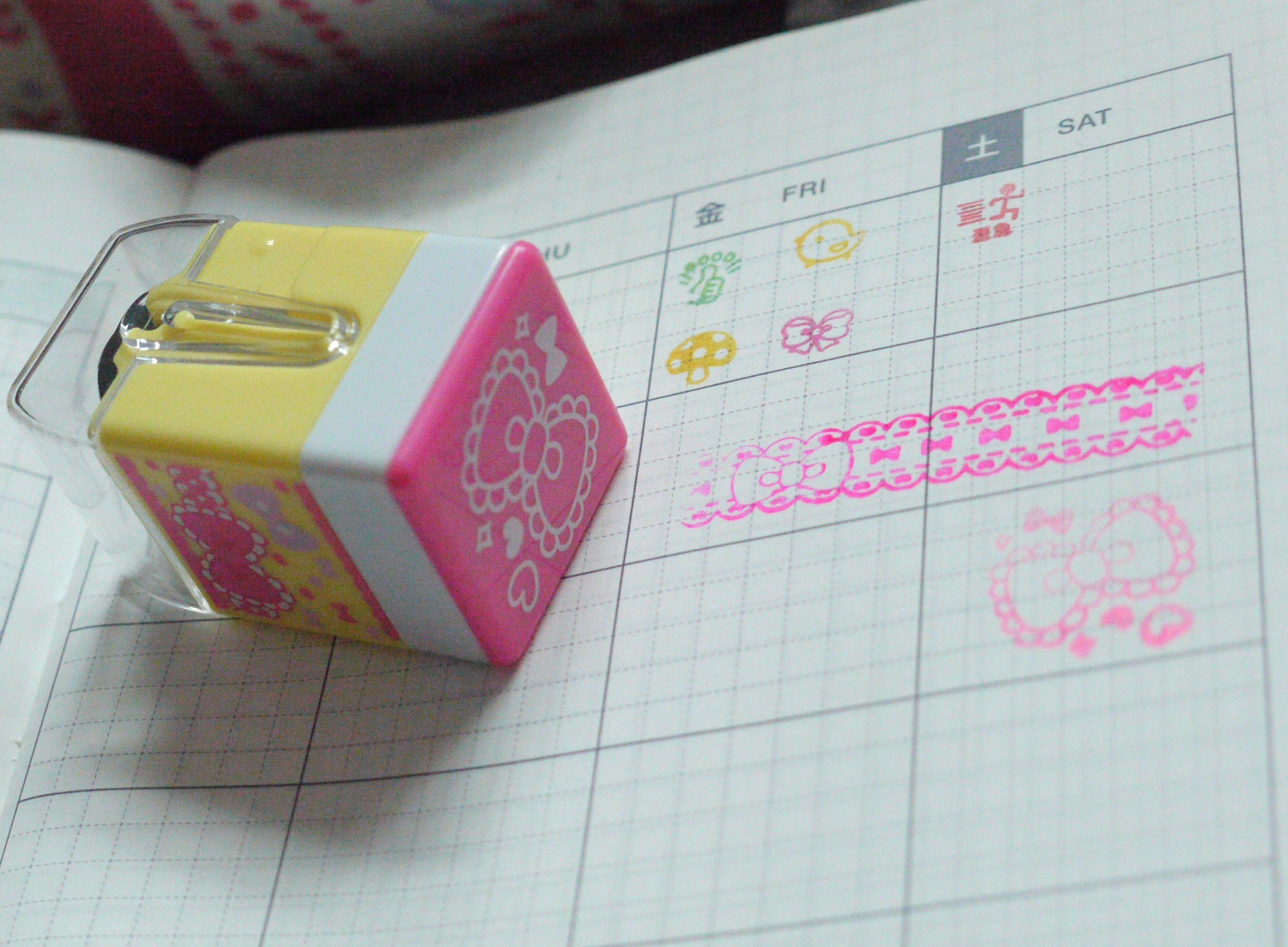 Q-lia裝飾滾輪印章試蓋