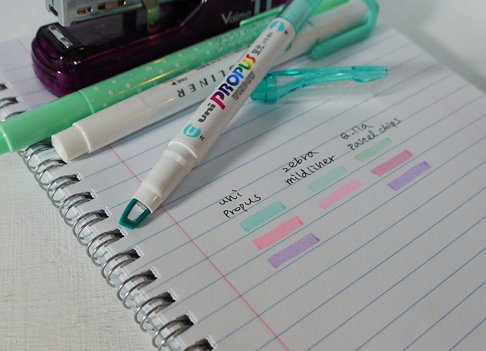 uni Propus柔色螢光筆