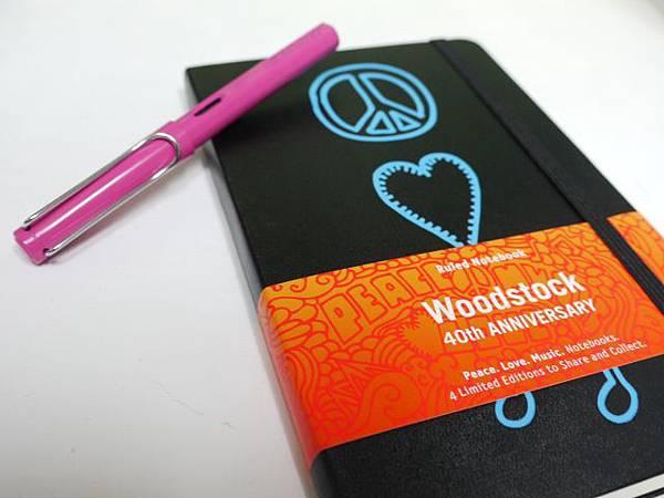 Moleskine慶祝Woodstock40周年版
