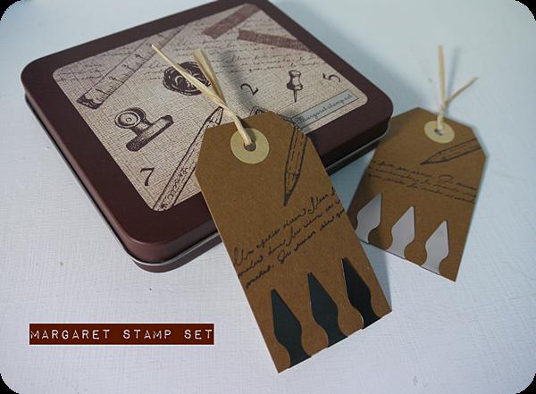 Margaret鐵盒印章試作