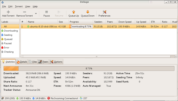 Ubuntu 下不錯的bt軟體Deluge @ Amin's Note :: 痞客邦::