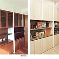 樂宅設計 桃園蘆竹 中悅凱薩春天 三房兩廳舊翻新 系統櫃設計 書房書櫃前後