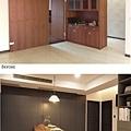 樂宅設計 桃園蘆竹 中悅凱薩春天 三房兩廳舊翻新 系統櫃設計 餐廳隱藏門前後2