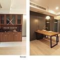 樂宅設計 桃園蘆竹 中悅凱薩春天 三房兩廳舊翻新 系統櫃設計 餐廳隱藏門前後3