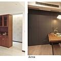 樂宅設計 蘆竹 中悅凱薩春天 舊翻新 餐廳隱藏門前後2