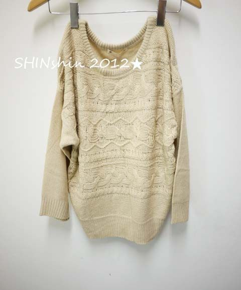 majestic粗針織羅紋寬版毛衣3