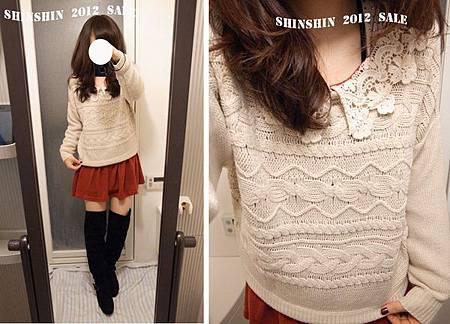 majestic粗針織羅紋寬版毛衣2