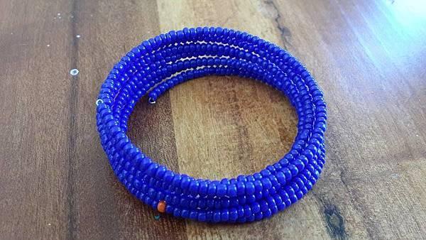 串珠手環(藍)
