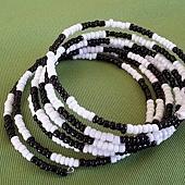 串珠手環(黑白)