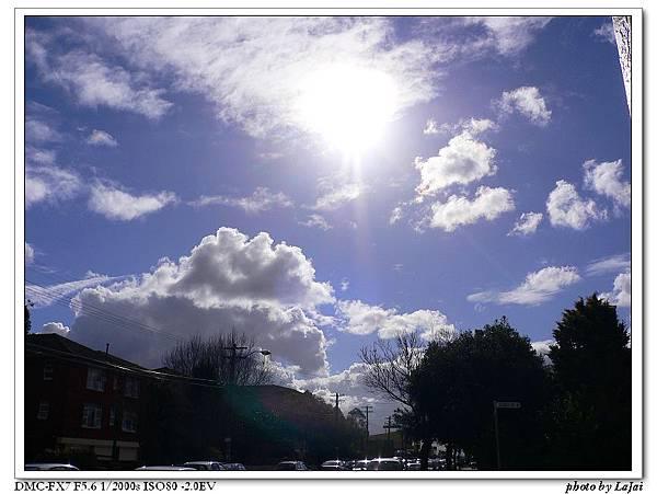 不錯的天空<可是其他部分就是陰天了>