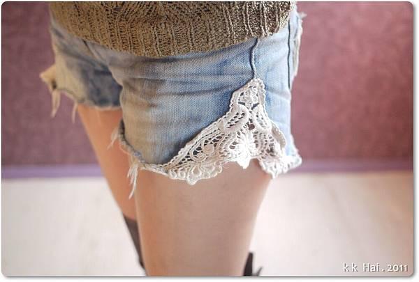 蕾絲牛仔短褲 (9).JPG