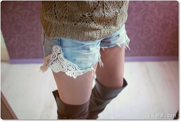 蕾絲牛仔短褲 (10).JPG