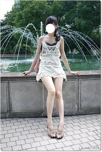 布蕾絲長版背心 (15)