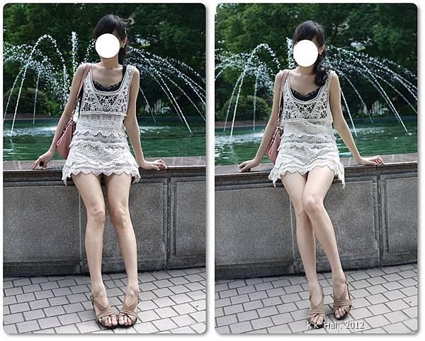 布蕾絲長版背心 (16)