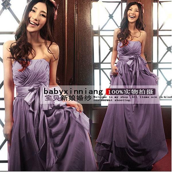 韓版平口禮服27