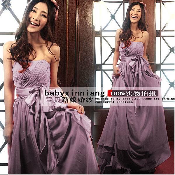 韓版平口禮服80