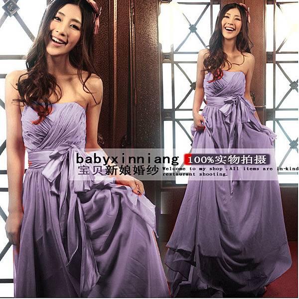 韓版平口禮服39