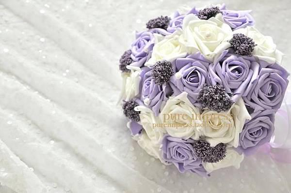 紫色珍珠满天星捧花 (1)