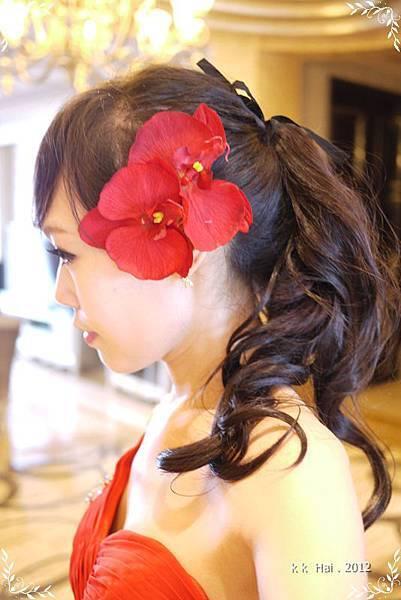 單肩紅色晚禮服 (11)