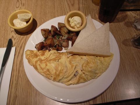 樂子 theDiner 起士培根蛋捲 cheese & bacon omelette